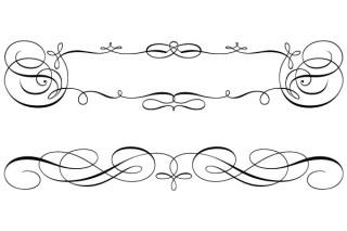 Calligraphy Ornamental Frame Vector Graphics