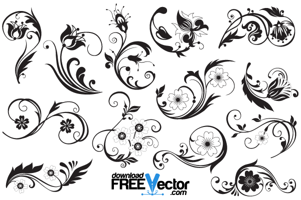 Free Floral Ornaments Illustrator