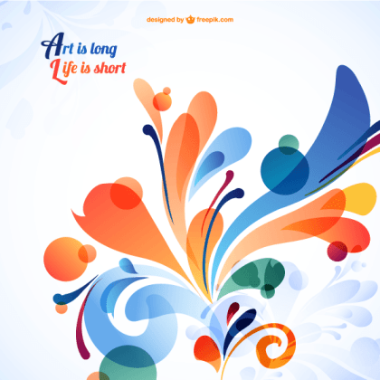 Abstract Colorful Floral Background Design