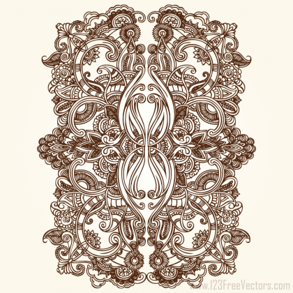 Floral Ornament Vector Free Download