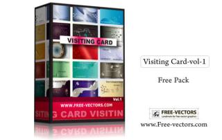 Visiting Card Free Vector Pack-1