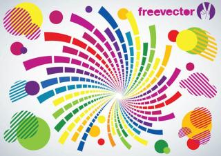 Circles Swirl Vector
