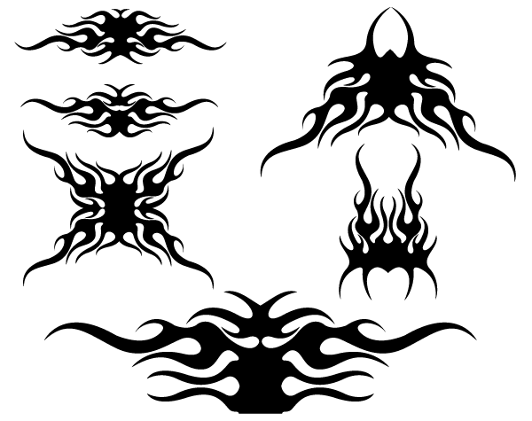 Tribal Flames Vector Design
