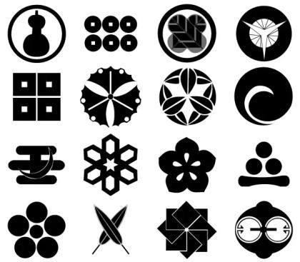 Japan Design Elements Free Vector Set