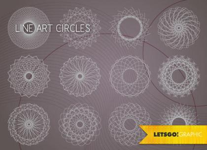 Free Vector Line Art Circle Design Elements