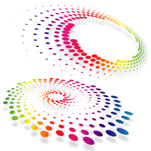 Abstract Dot Vector Shape