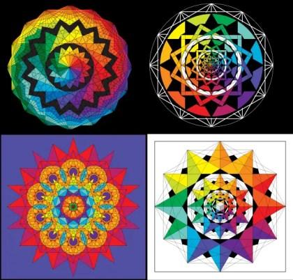 Colorful Geometric Harmonies Vector