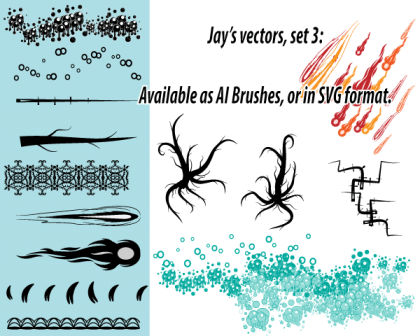 Ai Scatter and Art Brushes Set