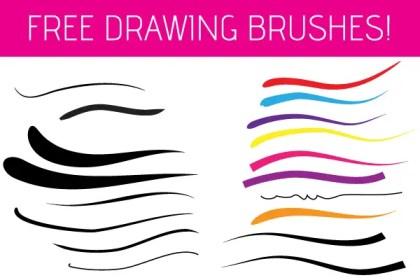 Free Illustrator Drawing Brushes