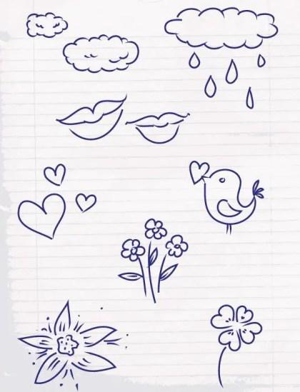 Free Doodle Sketch Vector Pack