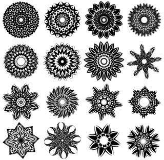 Free Tribal Flower Tattoo Designs Vector