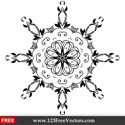 Vector Floral Ornament Design Elements