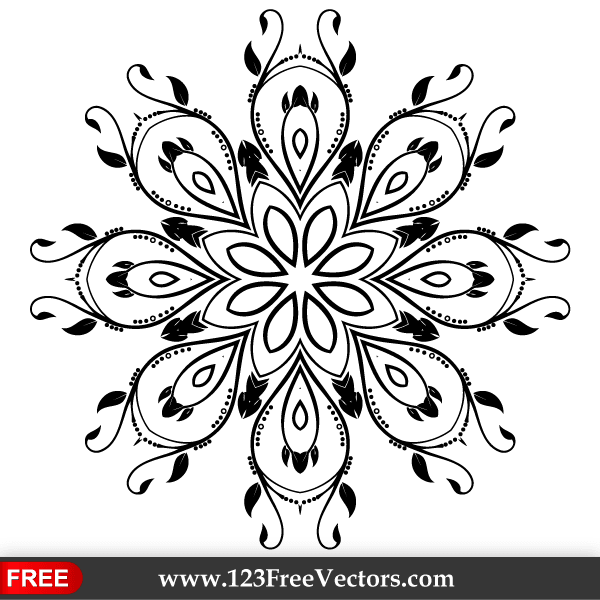 Ornate Decorative Element Vector Design