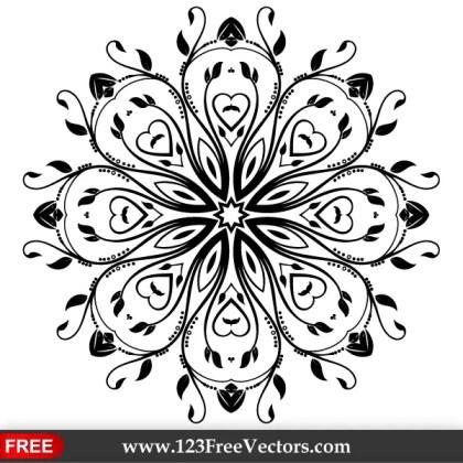 Flourish Vector Ornament Design