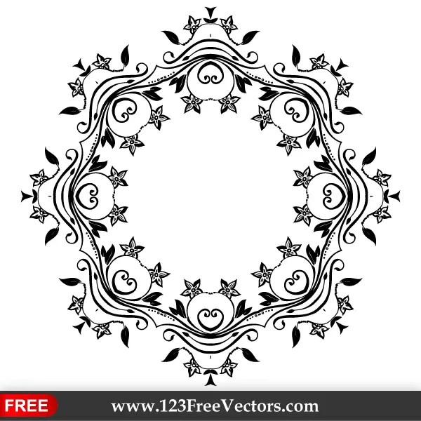 Vector Flower Ornate Frame Design | 123Freevectors