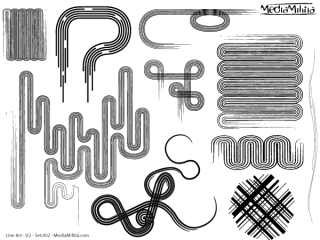 Line Art Vector Design Elements Set-2