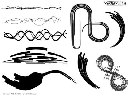 Line Art Vector Design Elements Set-3