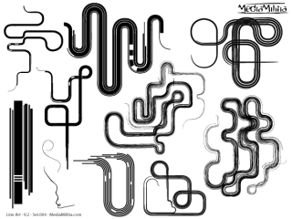 Line Art Vector Design Elements Set-4