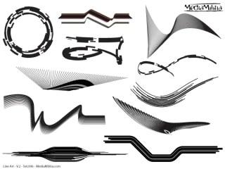 Line Art Vector Design Elements Set-6