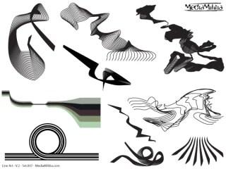 Line Art Vector Design Elements Set-7