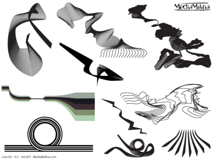 Line Art Vector Design Elements Set-7