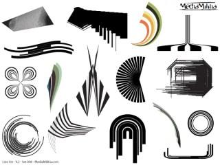 Line Art Vector Design Elements Set-8