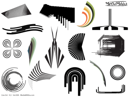 Line Art Vector Design Elements Set-8