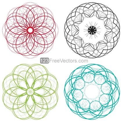 Vector Circle Decorative Design Elements Set-3