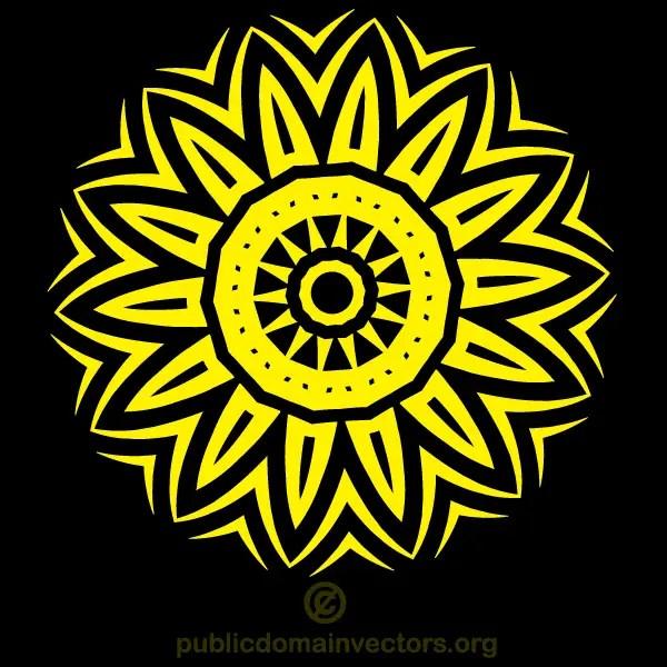 Circle Tribal Tattoo Design Vector