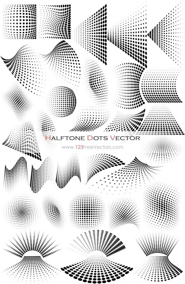 Vector Graphics Halftone Dots Design Elements