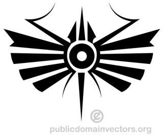 Decorative Tribal Symbol Vector Image