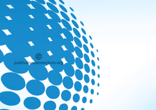 Blue Halftone Dots Pattern Vector