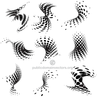 Abstract Halftone Dots Design Elements