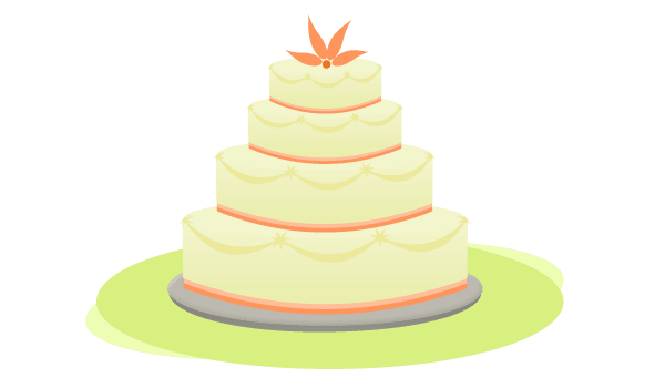 Free Wedding Cake Vector