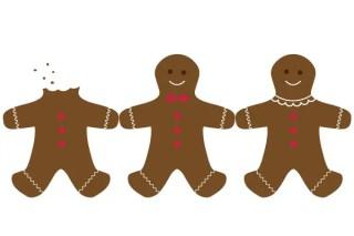 Vector Gingerbread Cookie Image