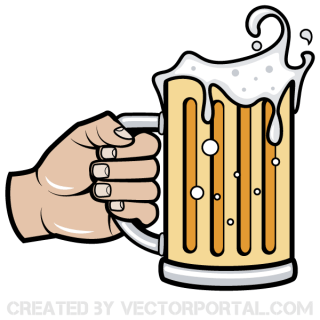 Hand Holding Beer Mug Vector Image