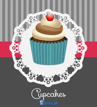 Retro Cupcake Vector Design