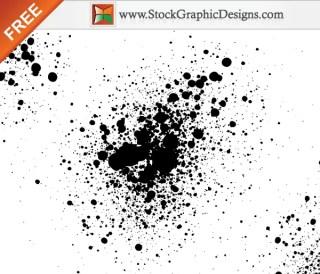Paint Splatter Free Vector Illustration