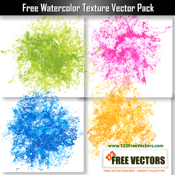 Free Watercolor Texture Vector Pack