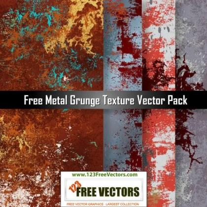 Free Metal Grunge Texture Vector Pack