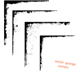 Vector Grunge Corner Designs Free Download