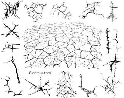 Free Vector Grunge Cracks