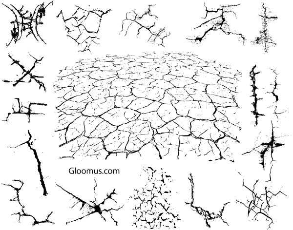 Free Vector Grunge Cracks