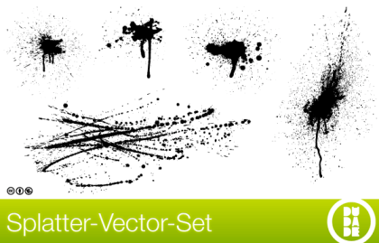 Splatter Vector Set