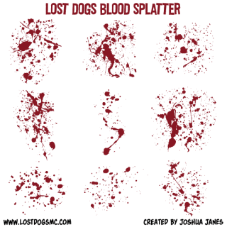 Free Vector Blood Splatter Illustrator