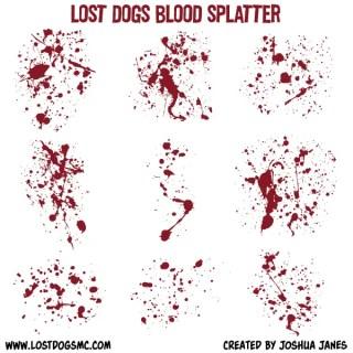 Free Vector Blood Splatter Illustrator