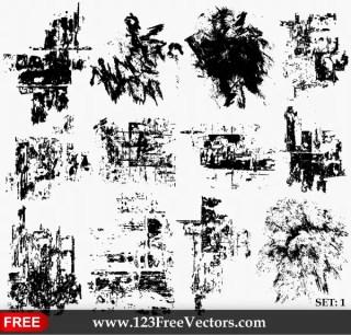 Grunge Texture Vector Set-1