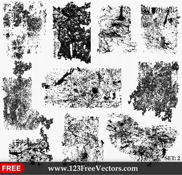 Grunge Texture Illustrator Set-2