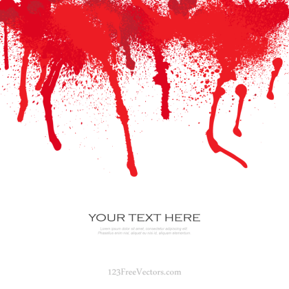 Blood Splat Vector Free