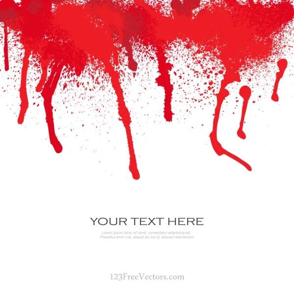 Blood Splat Vector Free